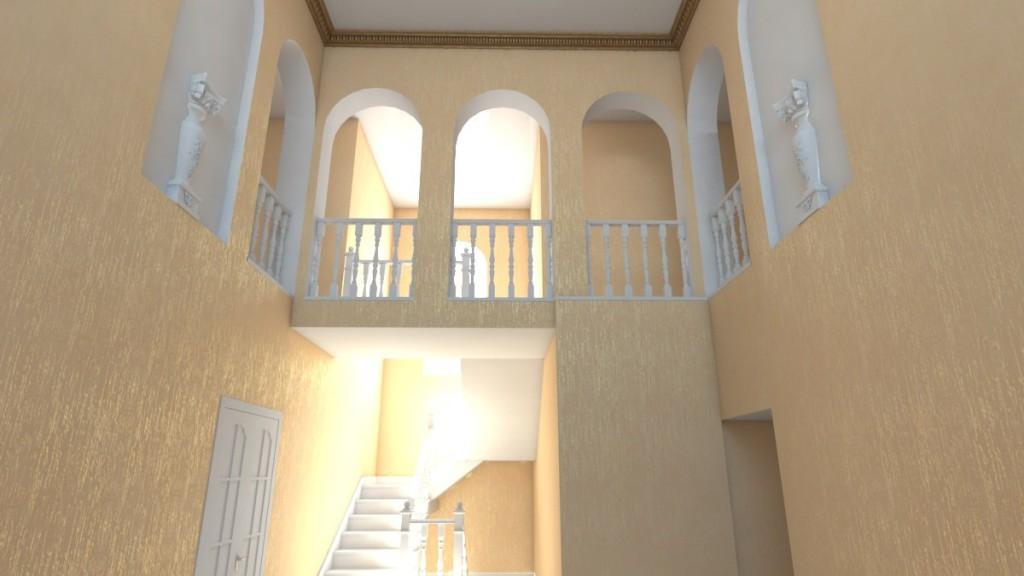 3D модель с визуализацией будущих обоев